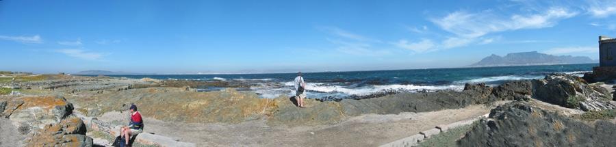 Kapstadt - Blick von Robben Island auf den Tafelberg