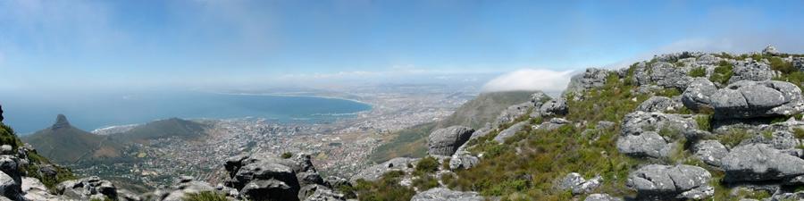 Kapstadt - Blick vom Tafelberg Richtung Norden