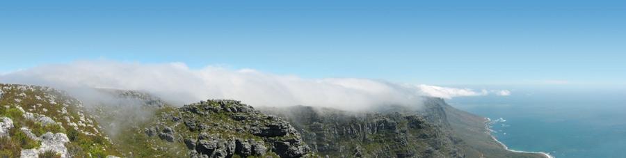 Kapstadt - Blick vom Tafelberg Richtung Süden