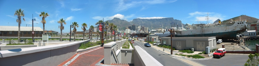 Kapstadt - Waterfront Richtung Tafelberg